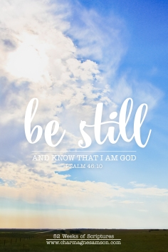10/52 - Psalm 46:10