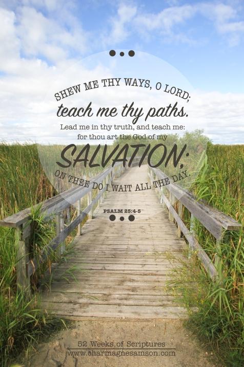 12/52 - Psalm 25:4-5