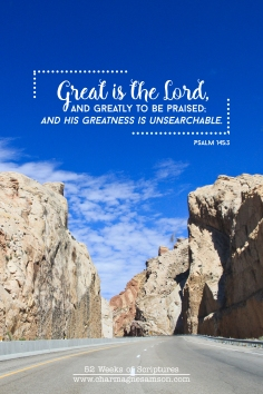 15/52 - Psalm 145:3