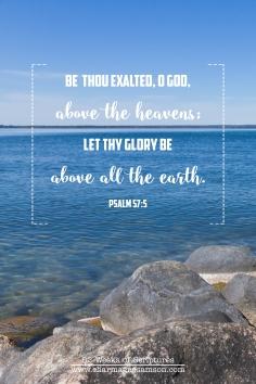 17/52 - Psalm 57:5