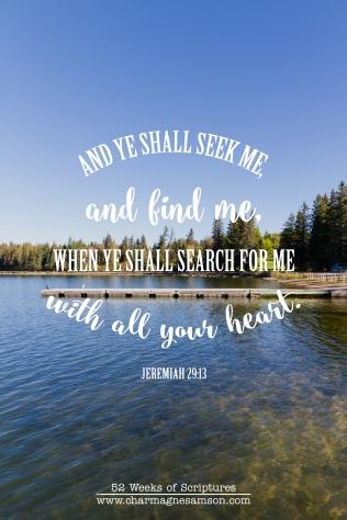 18/52 - Jeremiah 29:13