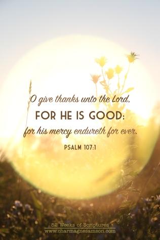 19/52 - Psalm 107:1