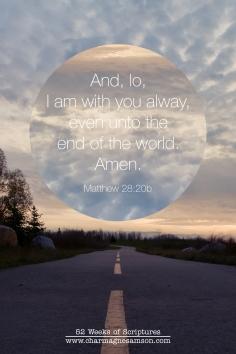 24/52 - Matthew 28:20b