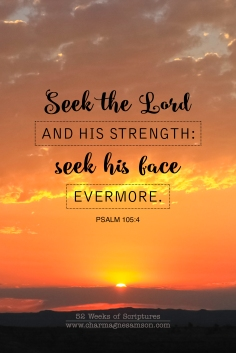 3/52 - Psalm 105:4