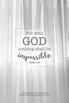 8/52 - Luke 1:37